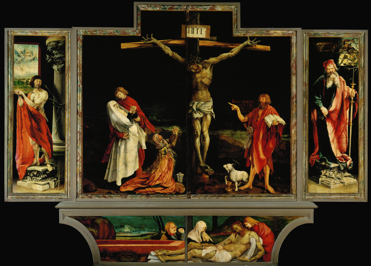 Fig. 1a. Matthias Grünewald, Isenheim Altarpiece, First view (Crucifixion), c. 1512–15, Musée d'Unterlinden, Colmar, France.