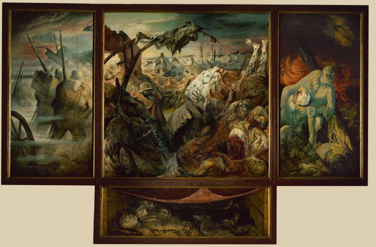 Fig. 3a. Otto Dix, War, 1932, Galerie Neue Meister, Dresden.