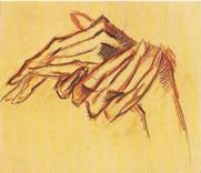 Fig. 4b. Heinrich Nauen, Zwei Studien zu den ineinandergelegten Händen and Zwei Studien zur linken Hand des Johannes, c. 1912, Kunstmuseum, Bonn.