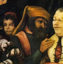 Fig. 6c. Grünewald, The Mockery of Christ, detail.