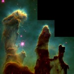 J. Hester and P. Scowen, Gas Pillars in the Eagle Nebula (M16): Pillars of Creation in a Star-Forming Region (1995)