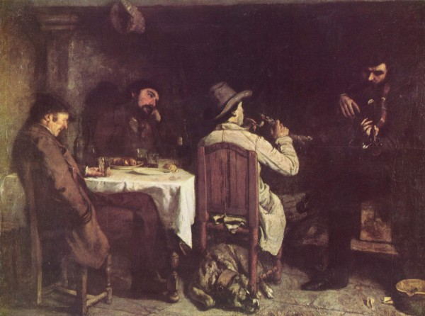 Gustave Courbet, After Dinner at Ornans, 1848-49. Oil on canvas, 195 x 257 cm. Musée des Beaux-Arts, Lille.