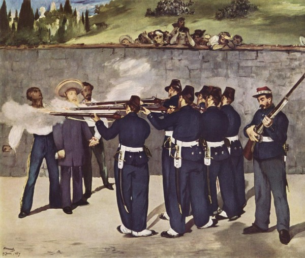 Edouard Manet, The Execution of Maximilian, 1868-69. Oil on canvas, 252 x 302 cm. Staedtische Kunsthalle, Mannheim.