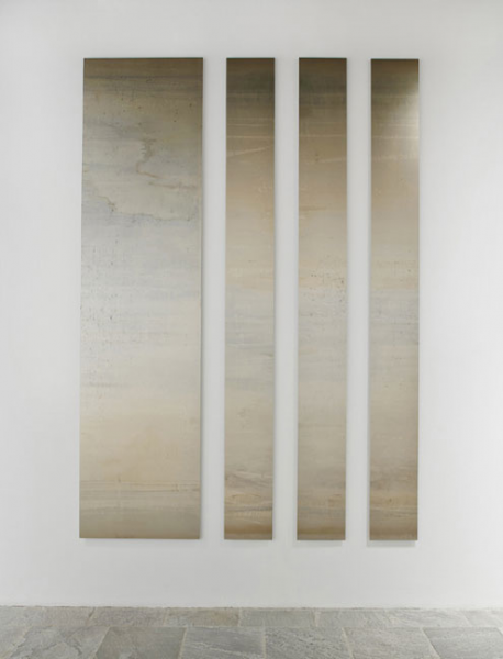 Liz Deschenes Untitled, 2012; Silver toned photogram mounted on Dibond; 120 x 84 inches (304.8 x 213.4 cm)