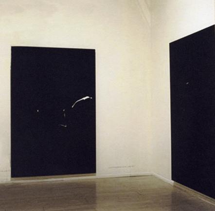 Alvaro Perdices, The Black Photos, Installation Shot; 1997