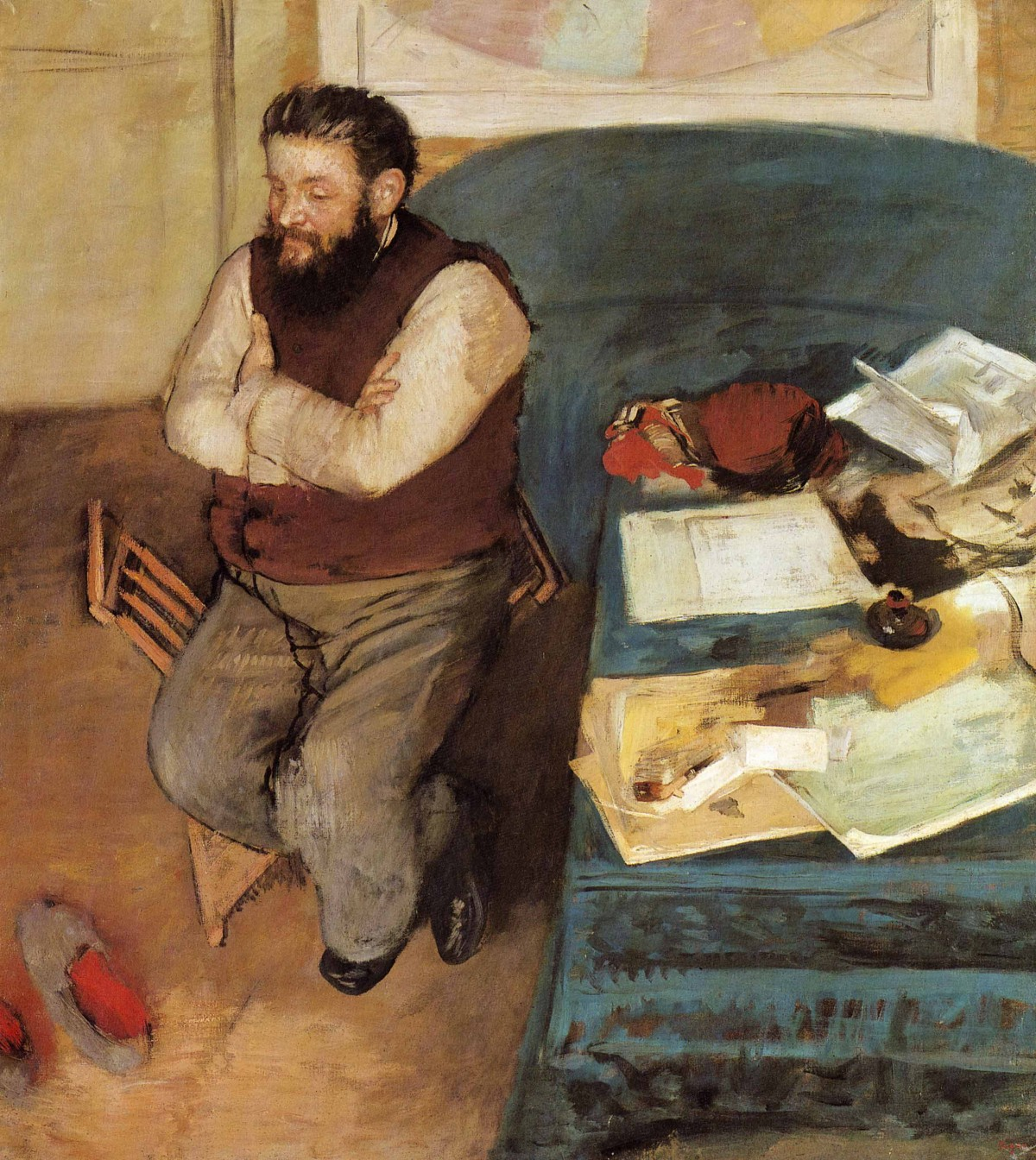 Fig. 3. Edgar Degas, Diego Martelli (Portrait de M. Diego Martelli), 1879. Oil on canvas, 43 1/2 × 39 3/4 in. (110 × 100 cm). National Gallery of Scotland, Edinburgh