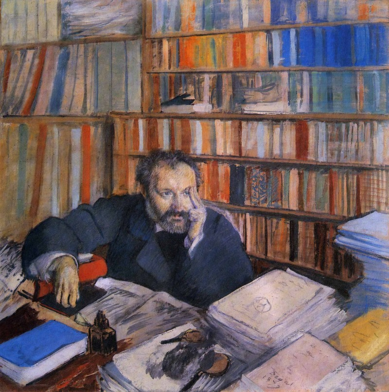 Fig. 4. Edgar Degas, Edmond Duranty (Portrait de M. Duranty), 1879. Pastel and distemper on canvas, 39 3/8 × 39 1/2 in. (101 × 100 cm). The Burrell Collection, Glasgow