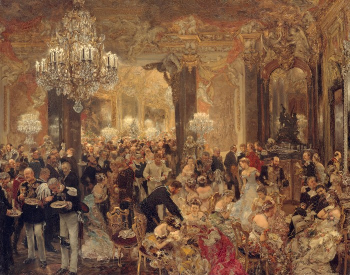 Fig. 5. Adolph Menzel, Supper at the Ball (Das Ballsouper), 1878. Oil on canvas, 28 x 36 in. (71 × 90 cm). Alte Nationalgalerie, Berlin
