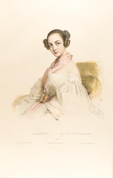 Fig. 13. Henri Grévedon, Le Vocabulaire des dames, No. 19, A Bientot | I'll See You Very Soon.