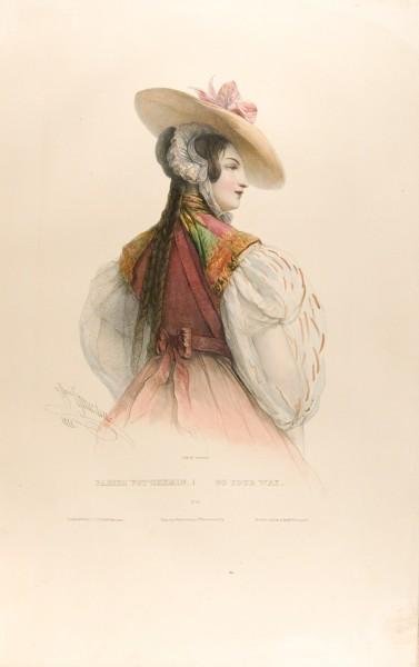 Fig. 14. Henri Grévedon, Le Vocabulaire des Dames, No. 13, Passez Vot' chemin. | Go Your Way.