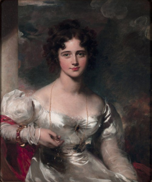 Fig. 20. Thomas Lawrence, Portrait of Miss Rosamond Crocker, later Lady Barrow, 1827, oil on canvas, 81.28 x 63.5 cm (32 x 25 in.) (Albright-Knox Art Gallery, Buffalo). Photo: Albright-Knox Art Gallery/Art Resource, NY.