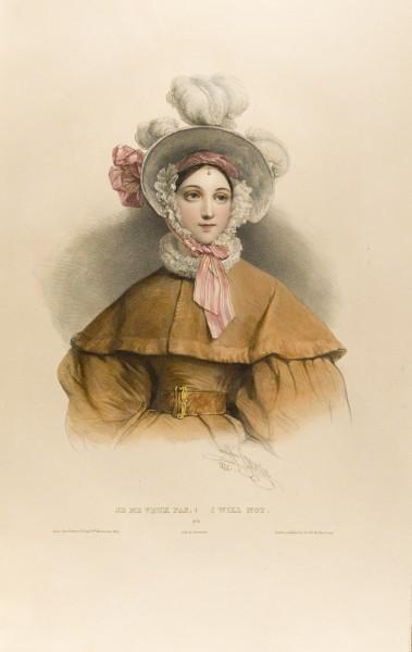 Fig. 6. Henri Grévedon, Le Vocabulaire des dames, No. 8, Je ne Veux Pas | I Will Not.