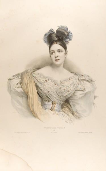 Fig. 9. Henri Grévedon, Le Vocabulaire des Dames, 1831-34, No. 5, Viendrez vous? | [Are you coming?].