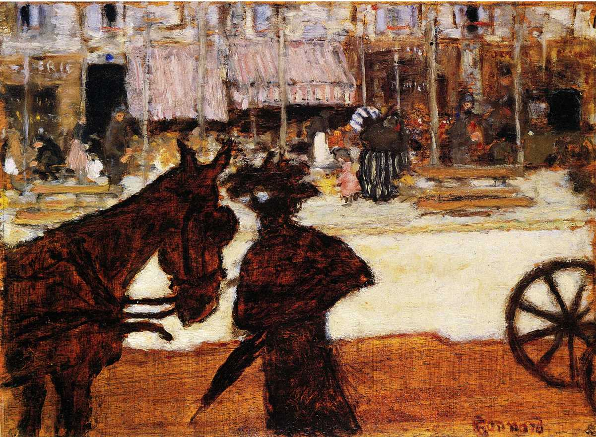 Fig. 1. Pierre Bonnard, Le cheval de fiacre (The Cab Horse), ca. 1895, Oil on wood, 29.7 x 40 cm (The National Gallery of Art, Washington, Ailsa Mellon Bruce Collection, 1970.17.4)