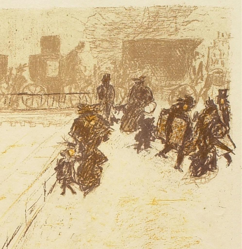 Fig. 19. Detail from Bonnard, Le pont (The Bridge)