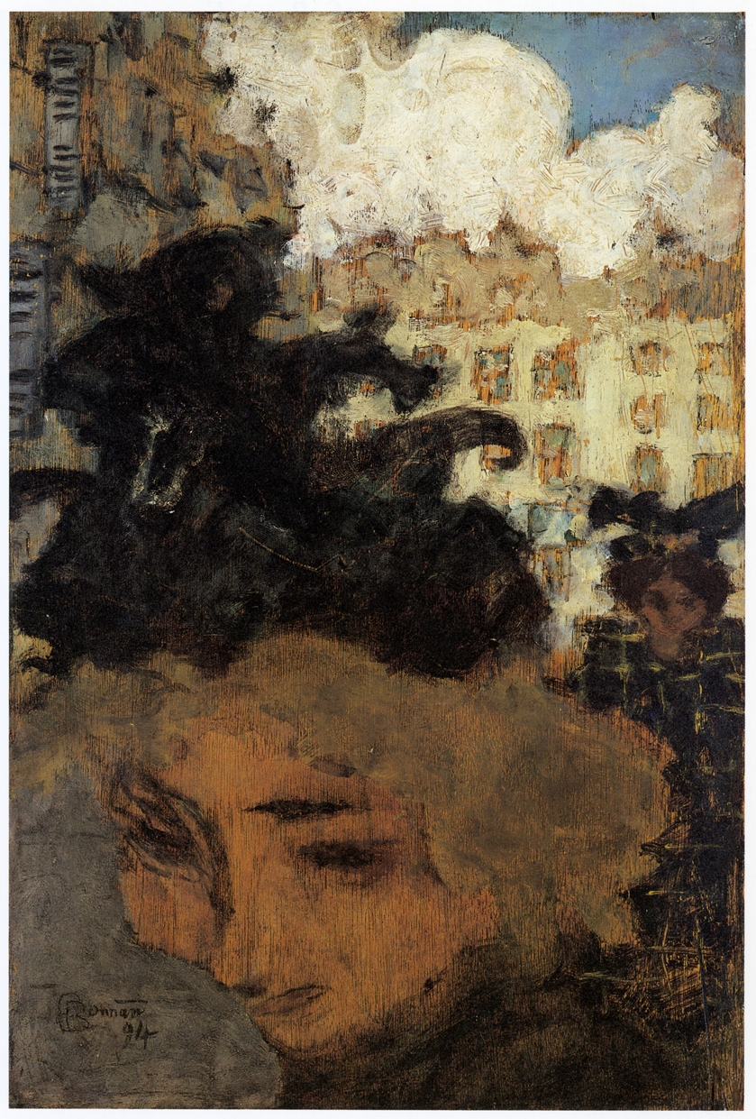Fig. 2. Pierre Bonnard, La passante (Passerby), 1894, Oil on wood, 36 x 25 cm (Private collection)
