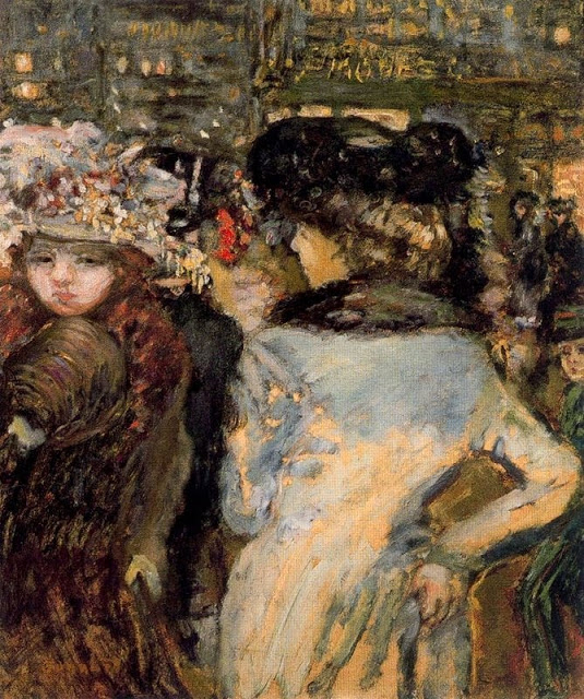 Fig. 3. Pierre Bonnard, Deux élégantes, Place de Clichy (Two Elegant Women, Place de Clichy), 1905, Oil on wood, 73 x 62 cm (Private collection)