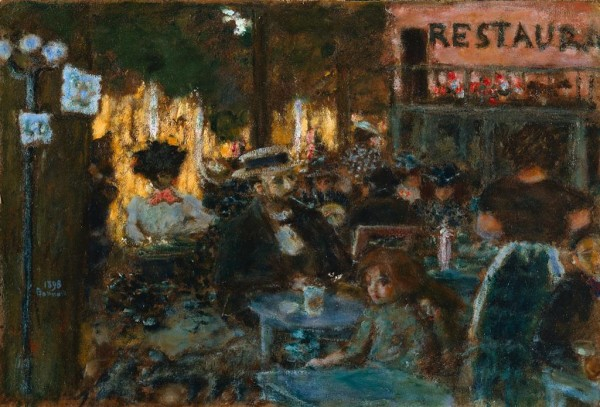 Fig. 4. Pierre Bonnard, Café Terrace, 1898, Oil on wood, 47 x 64.1 cm (The Cleveland Museum of Art, Anonymous Gift, 1976.148)