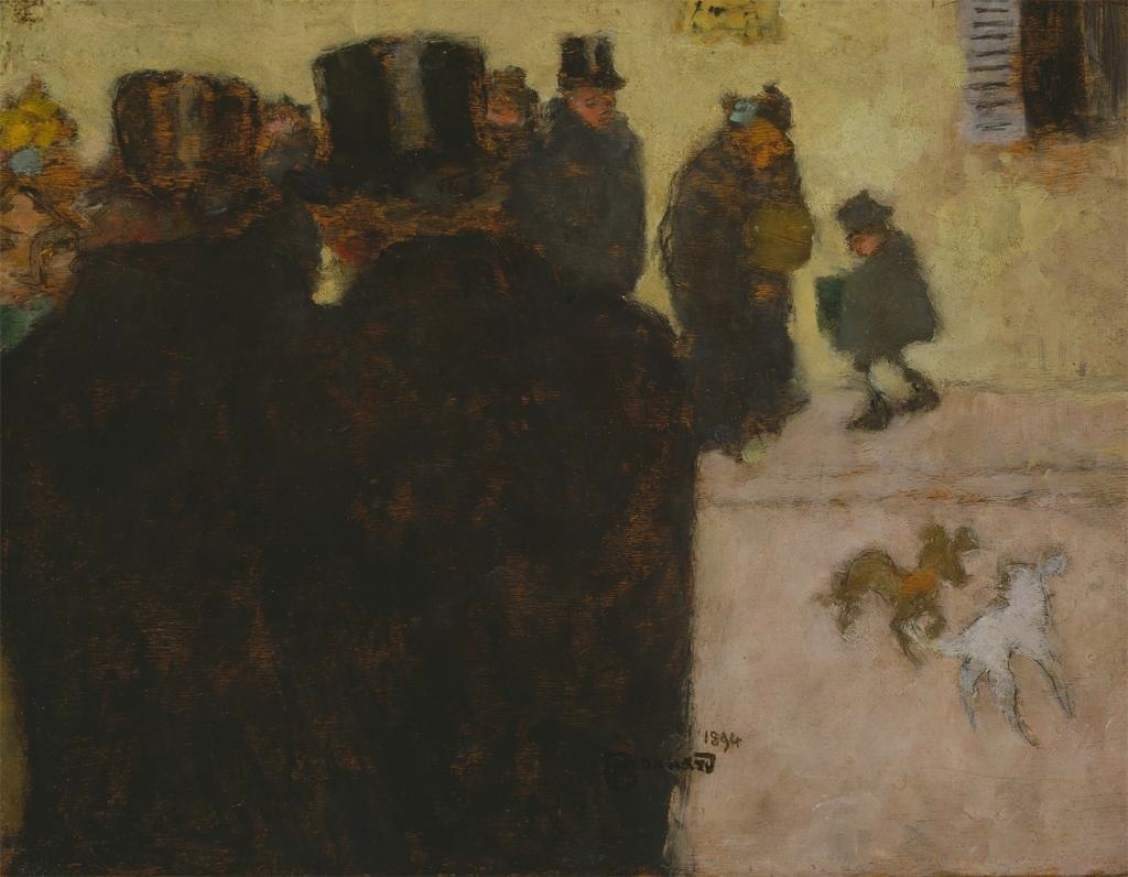 Fig. 5. Pierre Bonnard, La rue en hiver (The Street in Winter), 1895, Oil on wood, 26.5 x 35 cm (Dallas Museum of Art, The Wendy and Emery Reves Collection, 1985.R.5)