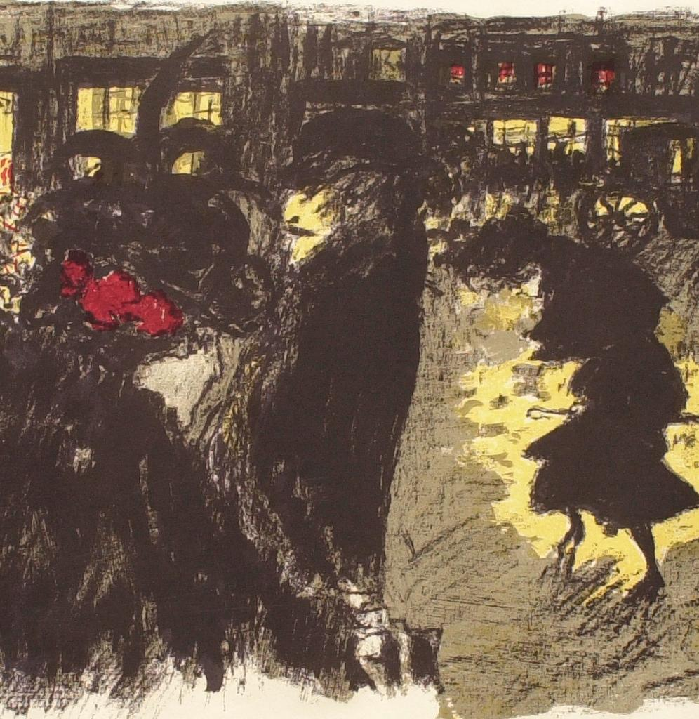 Fig. 7. Detail of Bonnard, Place le soir (The Square at Evening)