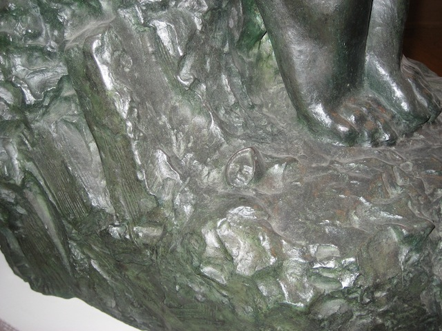 Detail of Jean-Léon Gérôme, Tanagra, Bronze cast in 1913, H: 152 cm (Musée Garret, Vesoul