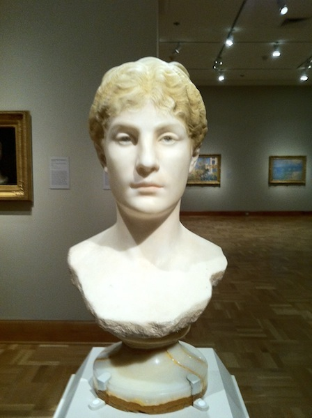 Jean-Léon Gérôme, Head of Tanagra (c. 1890), Tinted marble, H: 57 cm (Santa Barbara Museum of Art, California)