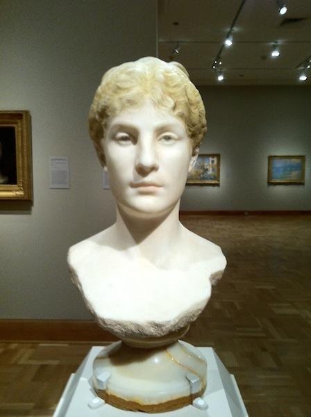 Jean-Léon Gérôme, Head of Tanagra (c. 1890), Tinted marble, H: 57 cm (Santa Barbara Museum of Art, California)