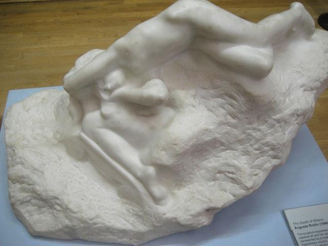 Auguste Rodin, La mort d'Athènes (c. 1903), Marble (Walker Art Gallery, Liverpool)