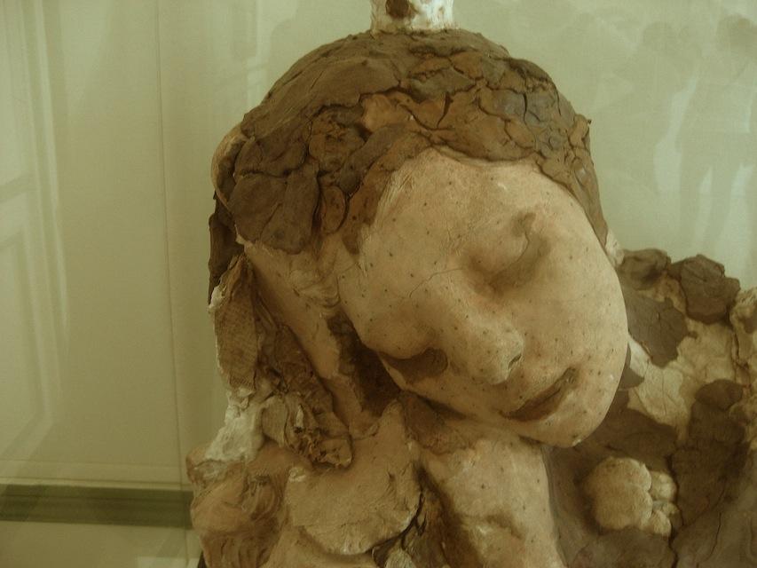 Auguste Rodin, Le Sommeil (Sleep), 1889-1894, Terracotta, plaster, wax, nails, modelling clay, newspaper, H: 46 cm (Musée Rodin, Paris)