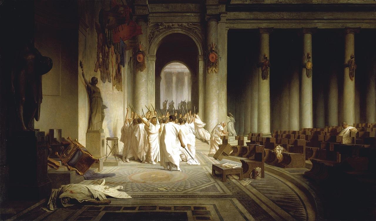 Jean-Léon Gérôme, Death of Caesar, c. 1859, Oil on canvas, 85.5 x 145.5 cm (Walters Art Museum, Baltimore)