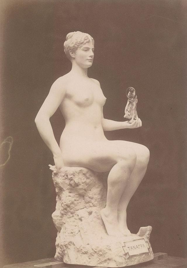 Jean-Léon Gérôme, Tanagra, 1890, Tinted marble, H: 154.7 cm (Musée d'Orsay)