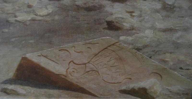 Detail of Jean-Léon Gérôme, La Plaine de Thèbes (Haute-Egypte), 1857, Oil on canvas, 76 x 131 cm (Musée des Beaux-Arts, Nantes)