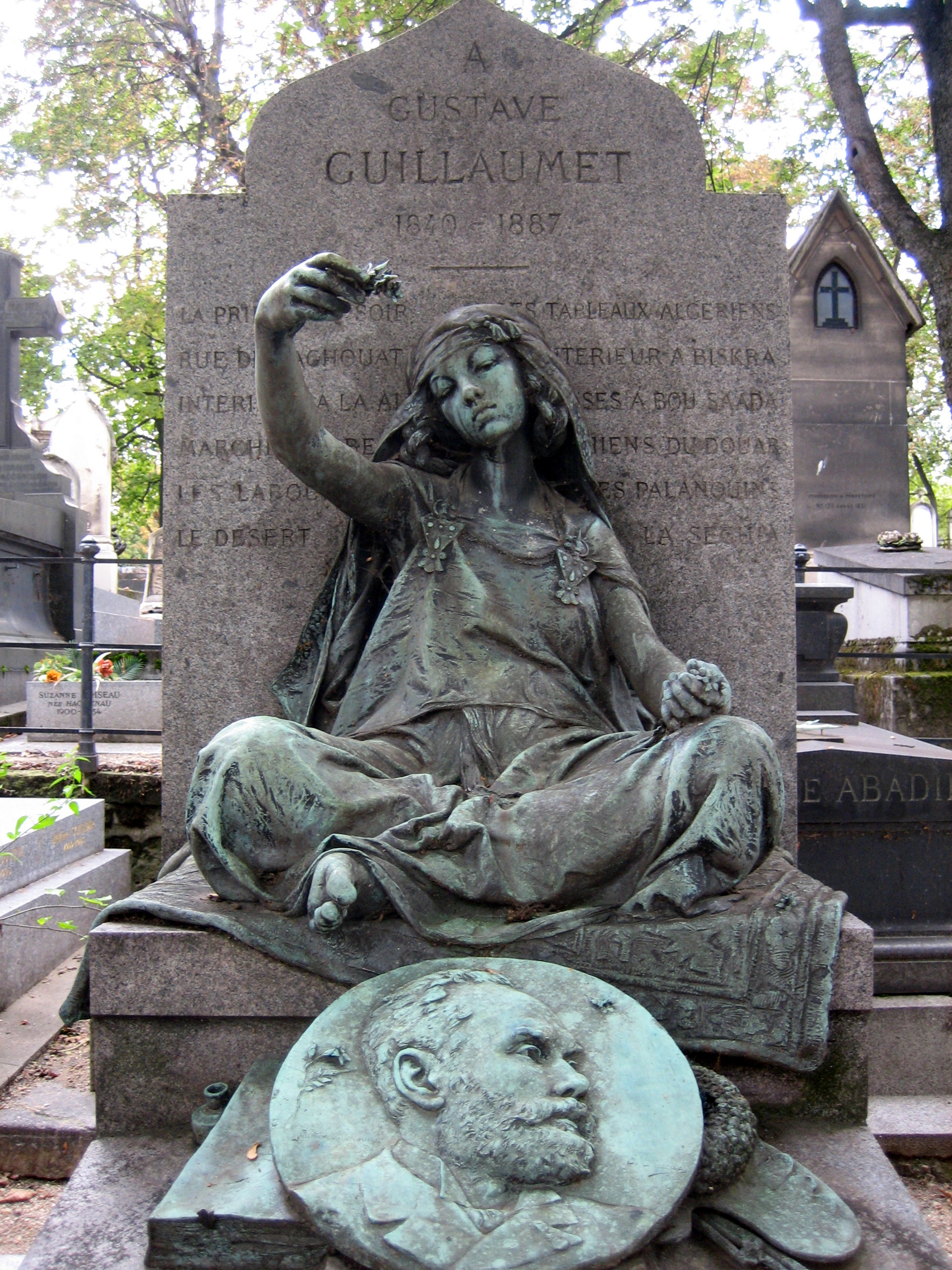 Figure 10. Louis­Ernest­Barrias, Tomb of Gustave Guillaumet, 1890, Montparnasse Cemetery, Paris.