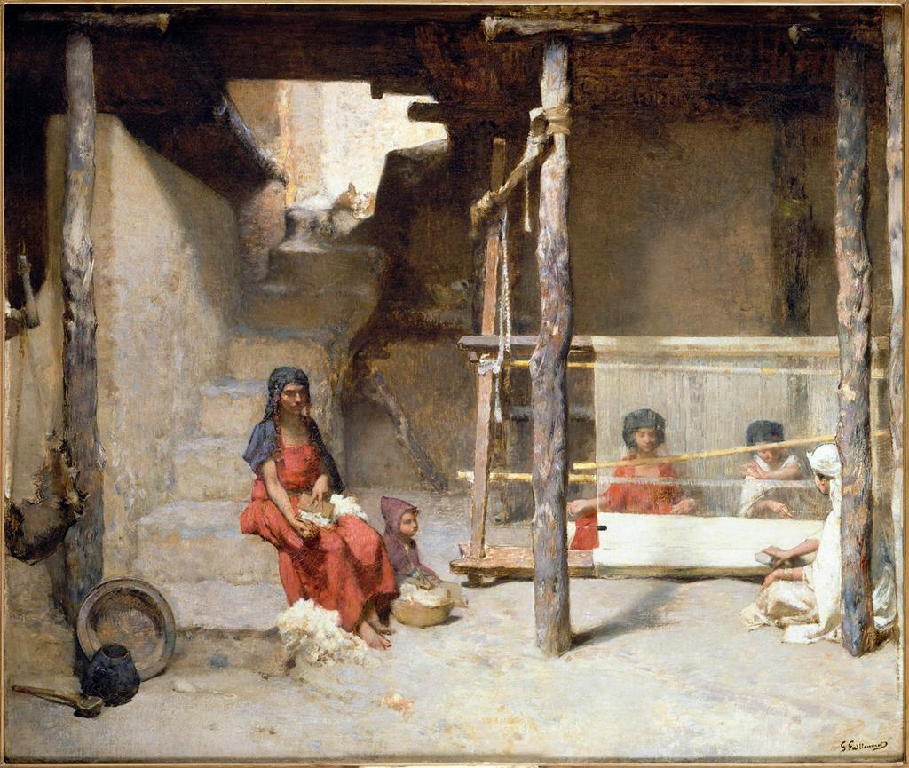 Figure 12. Gustave Guillaumet, Weavers at Bou Saâda, c. 1885, oil on canvas, 94 x 112 cm, Musée d'Orsay, Paris.