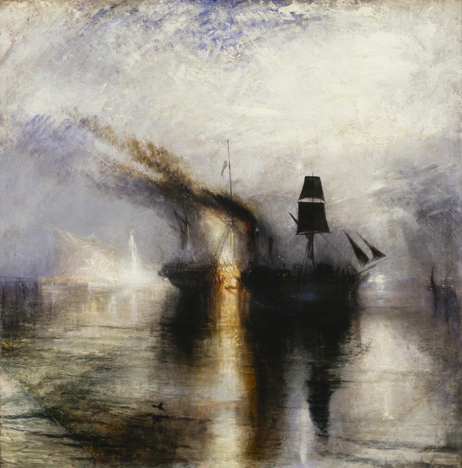 Figure 2. Joseph Mallord William Turner, Peace—Burial at Sea, 1842, oil on canvas, 87 x 87 cm, Tate Britain, London.