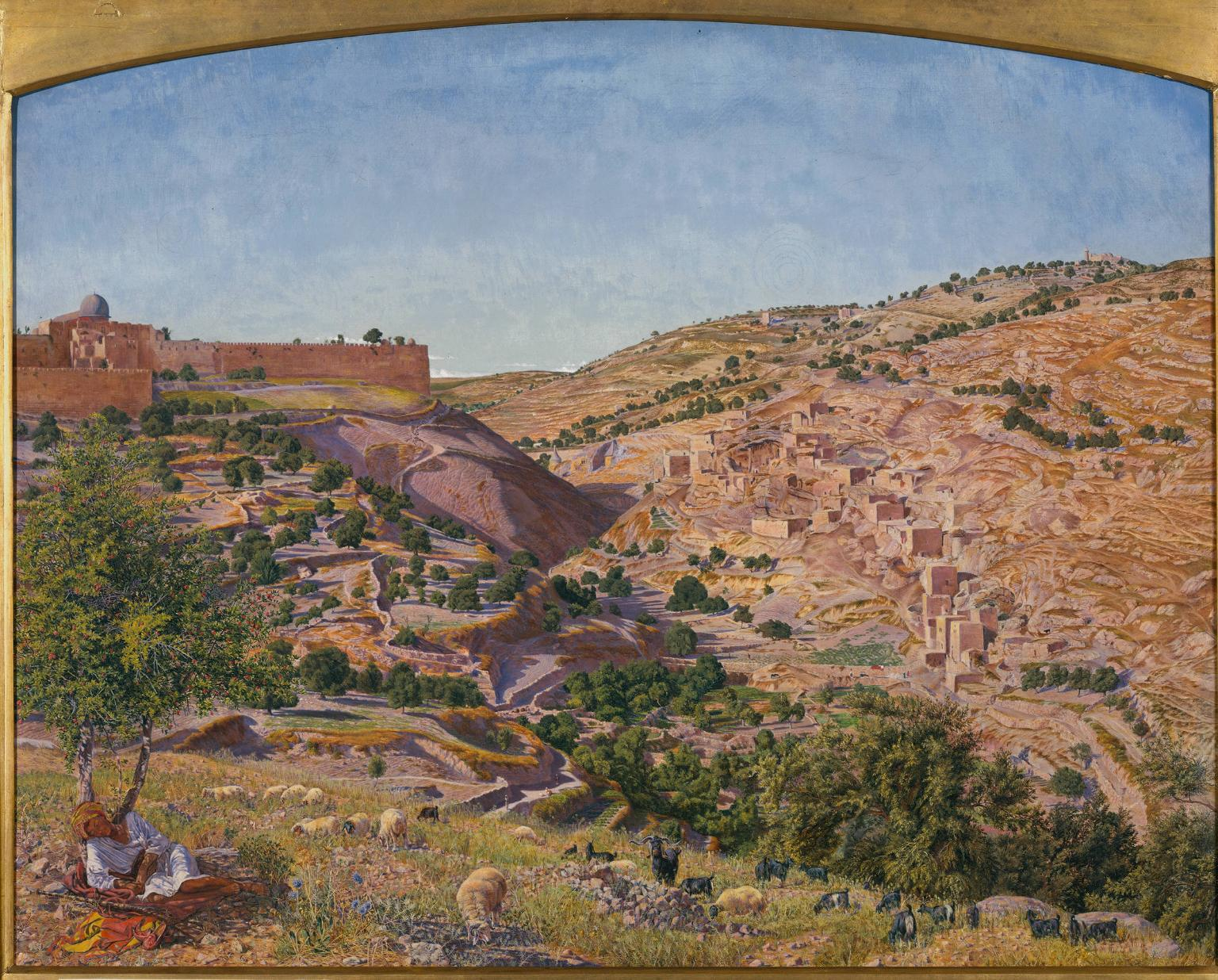Figure 3. Thomas Seddon, Jerusalem and the Valley of Jehoshaphat from the Hill of Evil Counsel, 1854–5, oil on canvas, 67 x 83 cm, Tate Britain, London.