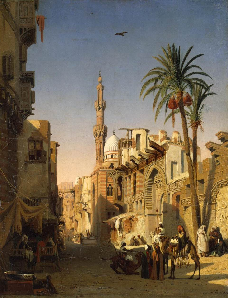 Figure 6. Prosper Marilhat, Ezbekiyah Street in Cairo, 1833, oil on canvas, 54 x 42 cm, The Hermitage, St. Petersburg.