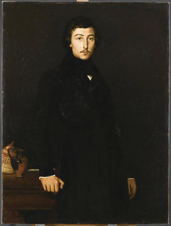 Figure 7. Théodore Chassériau, Portrait of Prosper Marilhat, oil on canvas, Musée du Louvre, Paris.