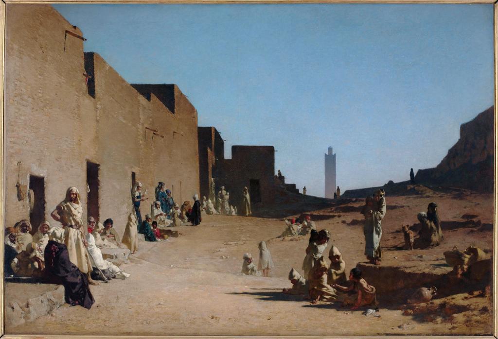 Figure 9. Gustave Guillaumet, Lhagouat, Algeria, 1879, oil on canvas, 123 x 180 cm, Musée d'Orsay, Paris..