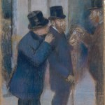 Degas, Portraits at the Stock Exchange, pastel, Met, 1878-79