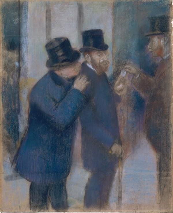 Degas, Portraits at the Stock Exchange, pastel, Met, 1878-79