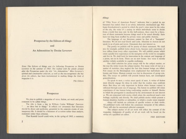 Figure 1: Things Issue 1, 1964.