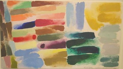 Figure 10 Color test for Procession, 1975 Magna acrylic on canvas 18 ½ x 33 in (46.99 x 83.82 cm) Courtesy of Loretta Howard Gallery