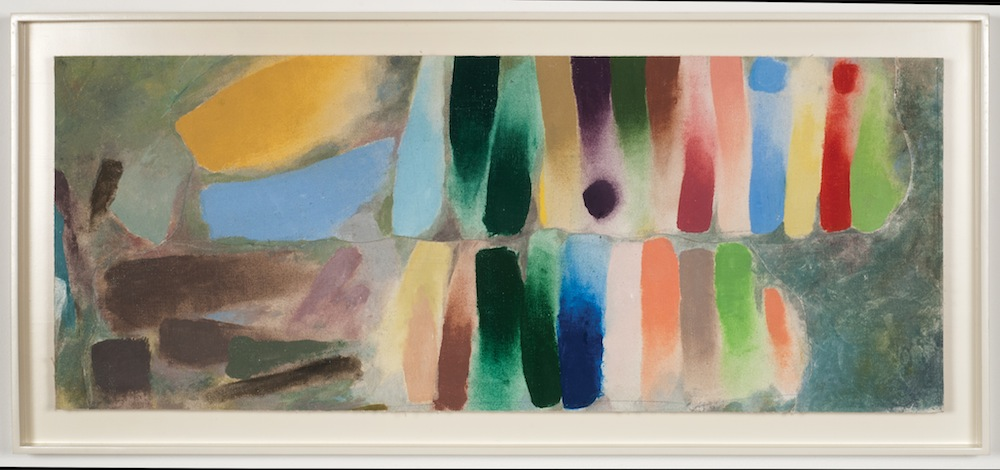 Figure 11 Procession (sketch), 1975 Magna acrylic on canvas 13 ½ x 31 in (34 x 79 cm) Goldman Family Estate Collection