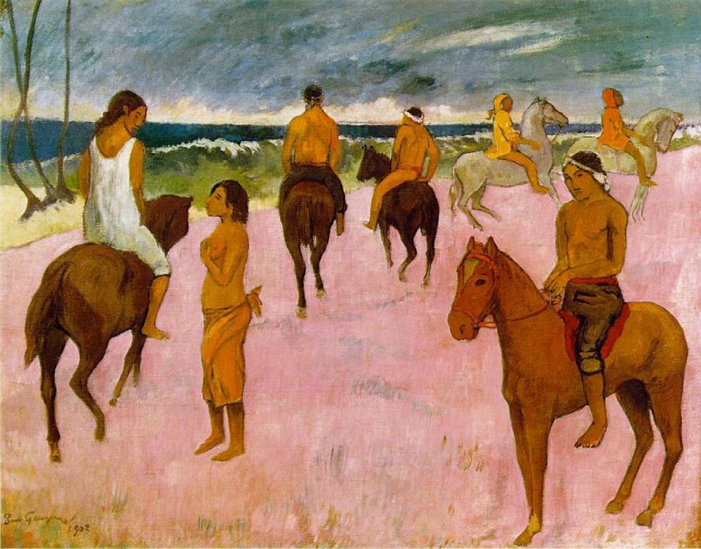 Fig. 4 Paul Gauguin, Riders on a Beach, 1902, oil on canvas, 66 x 76 cm (Stavros Niarchos Collection, London).