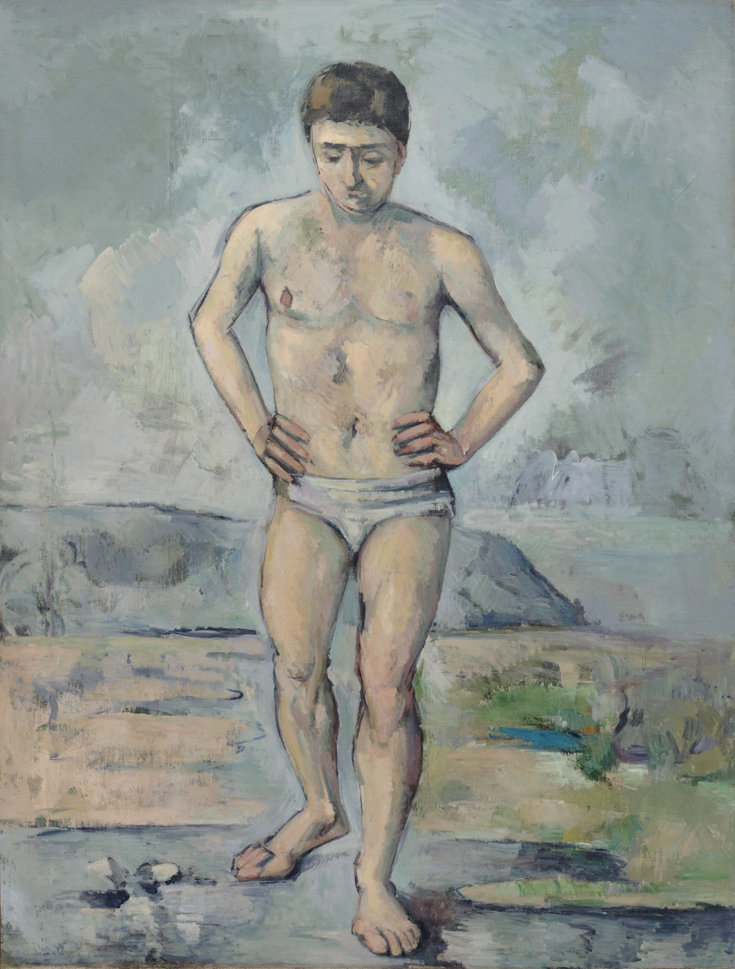 Fig. 6 Paul Cézanne, The Bather, 1885-1886, oil on canvas, 127 x 96.8 cm (Museum of Modern Art, New York).