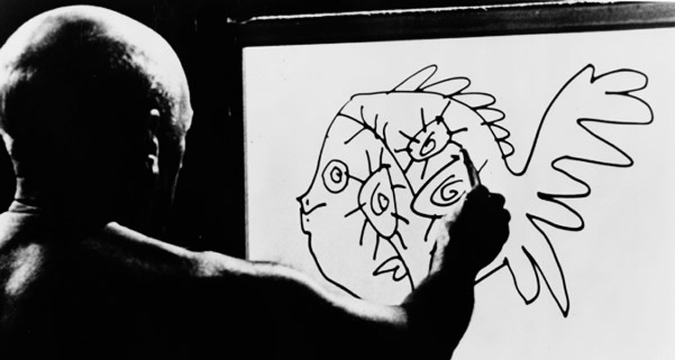 Fig 10 Henri-Georges Clouzot, The Mystery of Picasso, 1956, black-and-white film, 78 minutes.