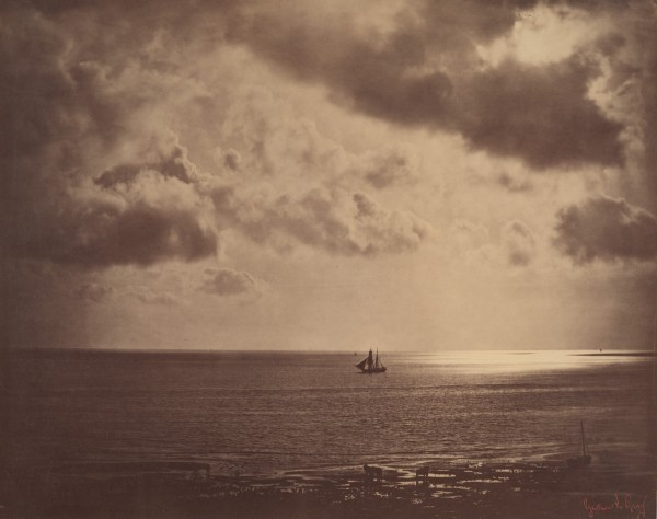 Fig. 10. Gustave Le Gray, Brig on the Water (Brick au clair de lune), 1856. Albumen print, 12 5/8 x 16 in. (32.1 x 40.5 cm). The Metropolitan Museum of Art, New York.