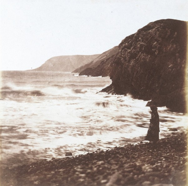 Fig. 14. John Dillwyn Llewelyn, Caswell Bay (Waves Breaking), 1853. Salted paper print, 6 x 6 1/4 in. (15.5 x 16 cm). Victoria & Albert Museum, London.