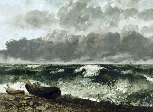 Gustave Courbet, The Stormy Sea (The Wave), 1870. Oil on canvas, 46 x 63 1/4 in. (117 x 160.5 cm). Musée d'Orsay, Paris.